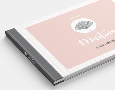 Diseño, impresión y encuadernación de álbum de fotos.