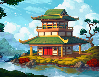 Fantasy environment - Japanese-style house concept