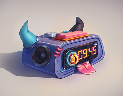 Monster Radio alarm clock - 2D props