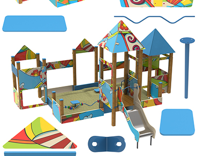 """""""4 patterns"""" design conceptof play and sports areas"""
