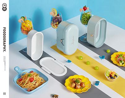 小家电摄影 | 杰滋加热饭盒Heated lunch box ✖ foodography