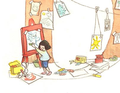 Children's Illustrated Alphabet