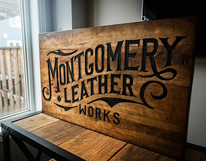 Montgomery Leather Works Branding
