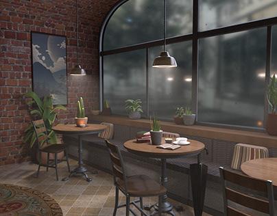 Cafe 3D Interior