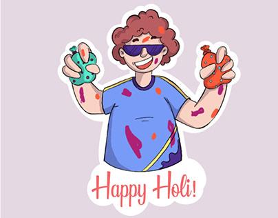 Holi Stickers