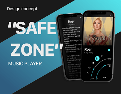 """Safe Zone"" Music player - Concept design"