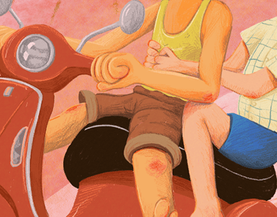 Pixar's 'Luca': Digital Illustration
