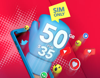 Creative refresh for SIM Only product line