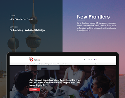 New Frontiers - Rebranding and Website