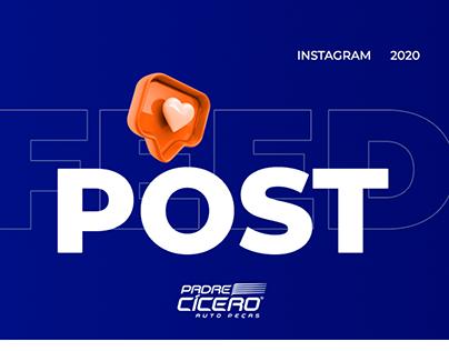 Feed Instagram - Redes Sociais Auto Peças Padre Cícero