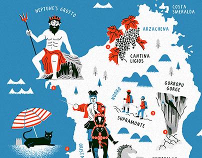 National Geographic Map - Sardinia