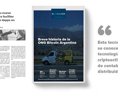 Diseño Editorial — Blockalizer Mag