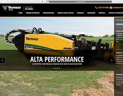 Webdesign - Vermeer Brasil