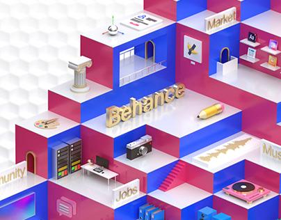 Behance Ecosystem UI Concept 2020