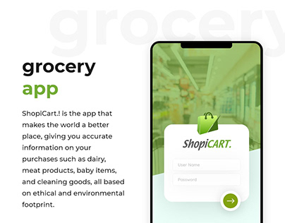 ShopiCART. Grocery App
