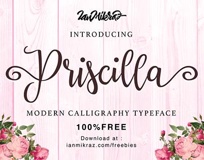 Priscilla Script - Free Font