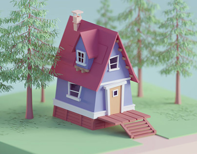Random Stylized House Render