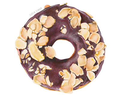 CHOCOLATE HAZELNUT DONUT