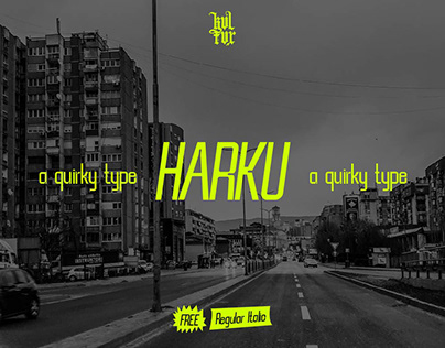 HARKU / A FREE Quirky Typeface