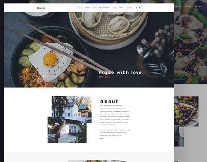 Renome - Free PSD Restaurant Template
