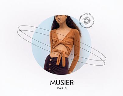 MUSIER online store redesign