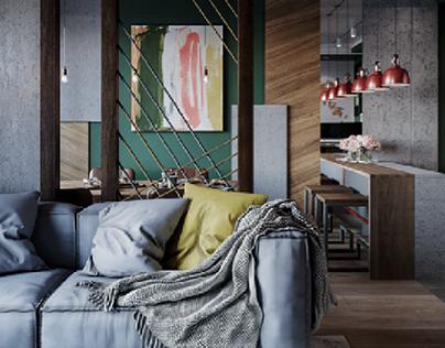 Kitchen-living room visualization |