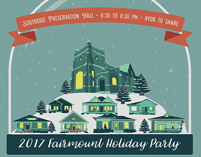 Historic Holiday Party Poster