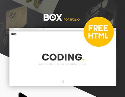 Box portfolio - Free html template