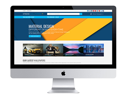 Free PSD Template for a Wallpapers Website