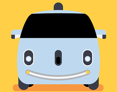 Daily Logo Challenge | Day 5: Driverless Car 🚘