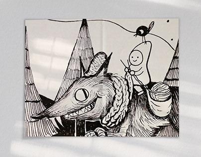 Fairy Tale Ink Illustration