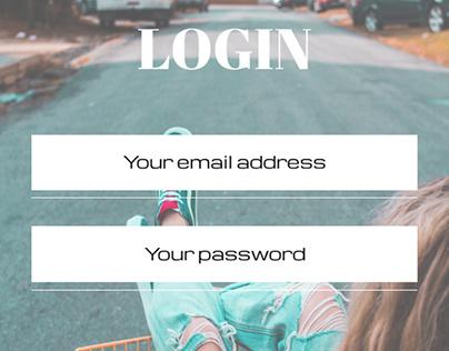 Designed UI for e-commerce website- Login page