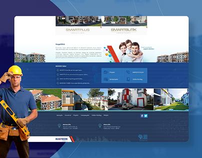 Maykon Yapı Website Design