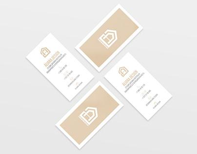 Business cards for design studio
