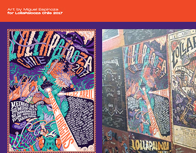 Poster for Lollapalooza Chile 2017