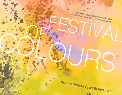 Festival of Colours Poster