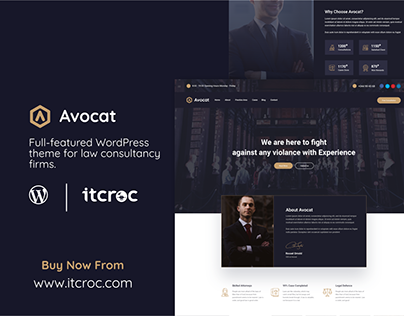 Avocat - Premium WordPress Theme For Lawyer & Law Firm