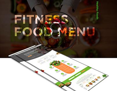 Fitness Food Menu - Online Store