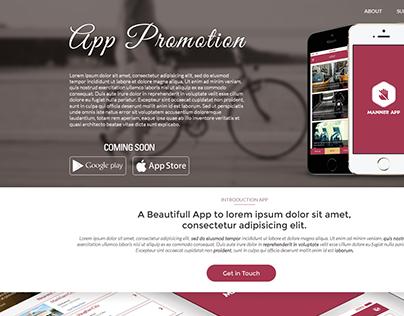 Manner App Landing Page