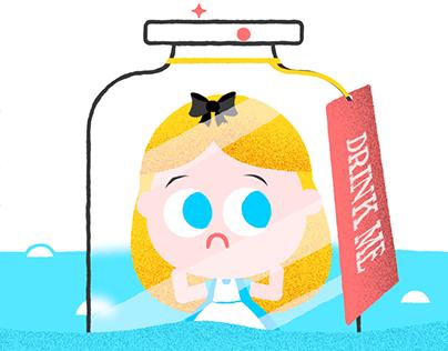 Alice in Wonderland Amino Sticker Set