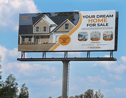 Real Estate Billboard banner design