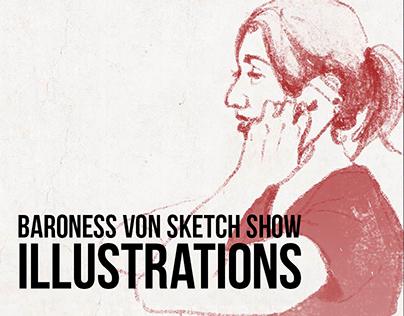 Baroness Von Sketch Show Illustrations