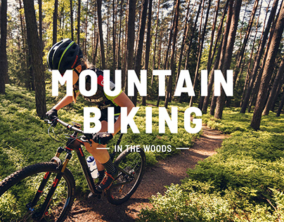 Mountainbiking in the Woods