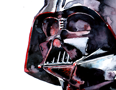 Darth Vader watercolor sketch