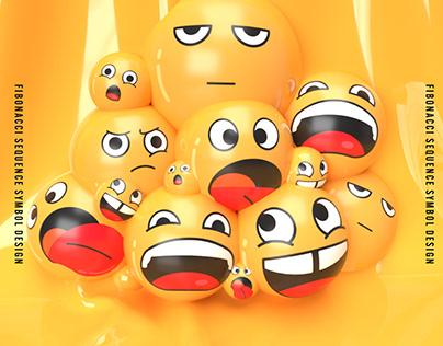 fibonacci sequence emoji design