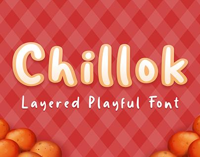 Chillok Layered Typeface