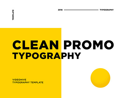 Clean Promo Typography After Effects Template