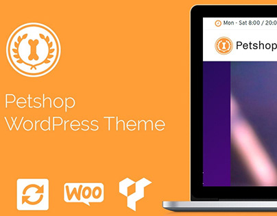 Petshop WordPress Theme - Responsive Pets Site Builder
