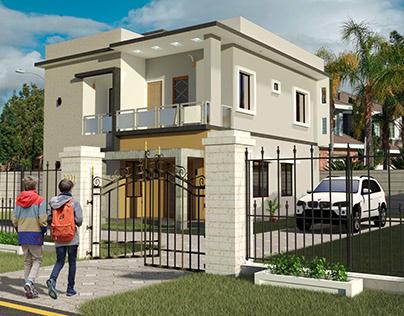 duplex house exterior