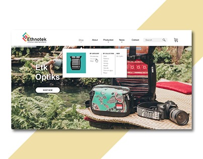 Backpack shop - Identity + Web Design
